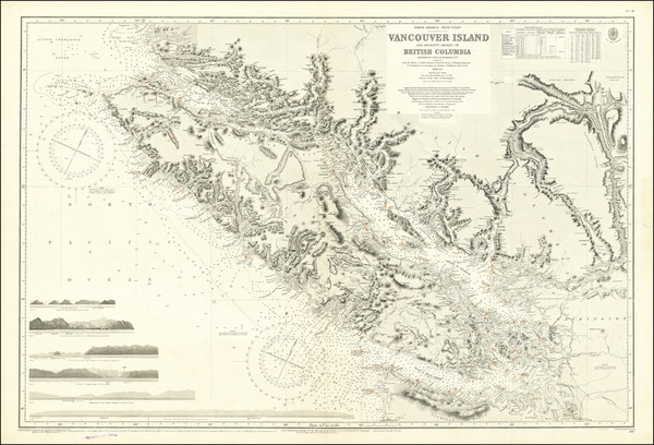 4-Pacific Northwest, Washington and Canada Map By British Admiralty