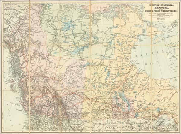 88-Western Canada Map By Edward Stanford