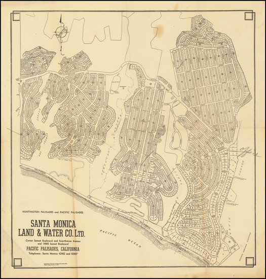 31-Los Angeles Map By Santa Monica Land & Water Co