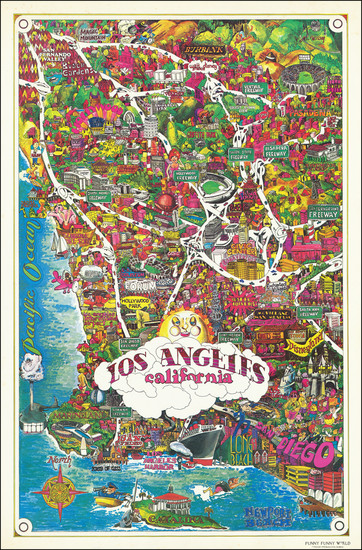 97-Pictorial Maps and Los Angeles Map By Funny Funny World