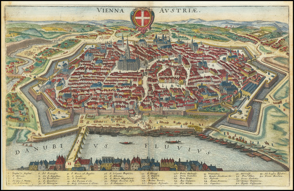 60-Austria Map By Matthaus Merian