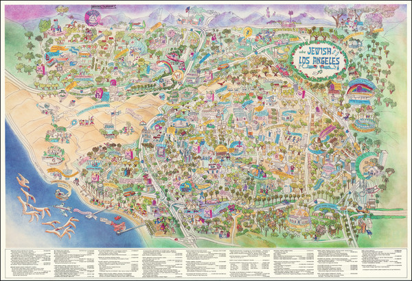 99-Pictorial Maps and Los Angeles Map By Bill Block