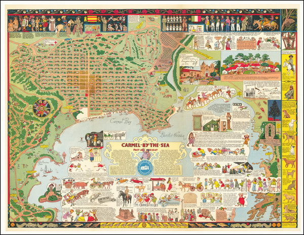20-Pictorial Maps, California and Other California Cities Map By Jo Mora