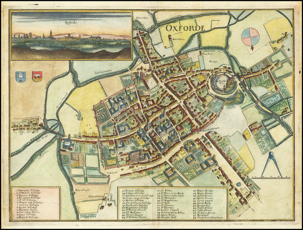 35-England and British Counties Map By Matthaus Merian