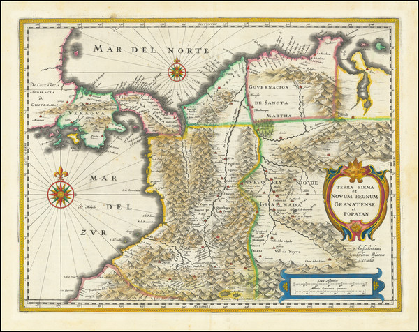 12-Colombia Map By Willem Janszoon Blaeu