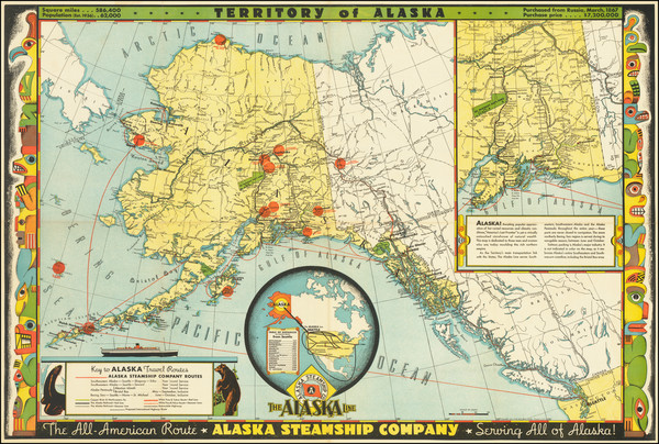 18-Alaska and Pictorial Maps Map By Frank McCaffrey