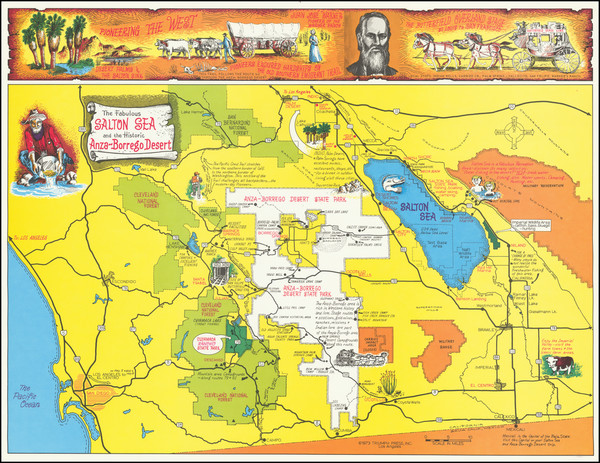 89-Pictorial Maps and California Map By Triumph Press Inc.