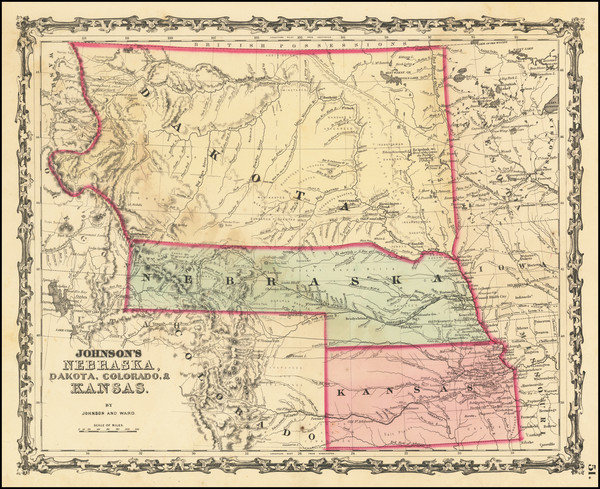 53-Kansas, North Dakota, South Dakota, Colorado, Colorado, Montana and Wyoming Map By Alvin Jewett