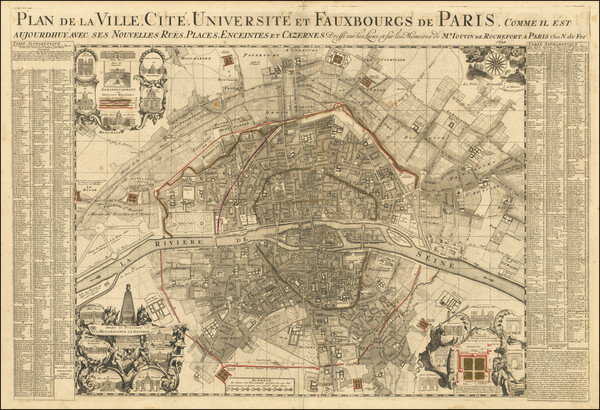 22-Paris Map By Nicolas de Fer