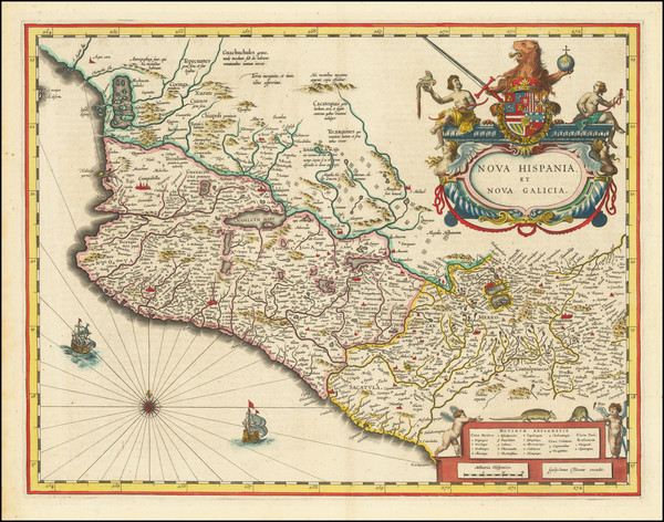 21-Mexico Map By Willem Janszoon Blaeu