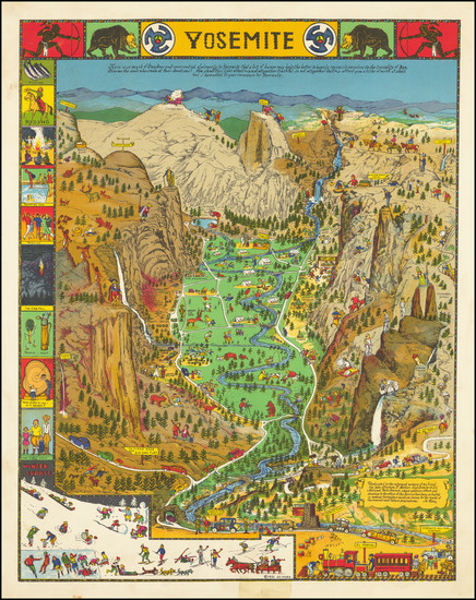 81-Pictorial Maps and Yosemite Map By Jo Mora