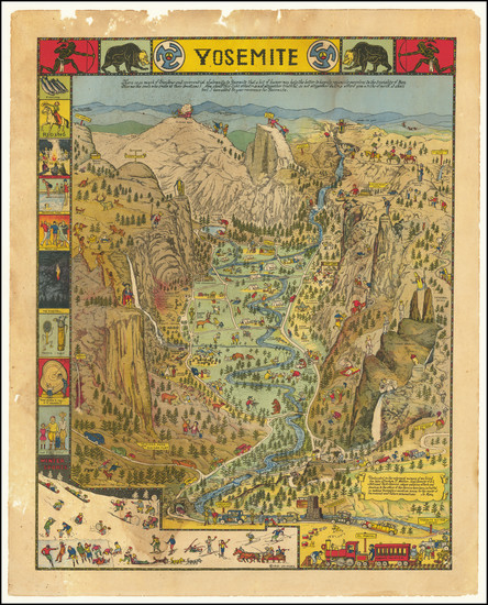 96-Pictorial Maps and Yosemite Map By Jo Mora