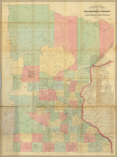 90-Midwest and Minnesota Map By Joseph Sewall