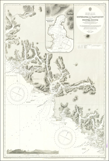 99-Western Canada Map By British Admiralty