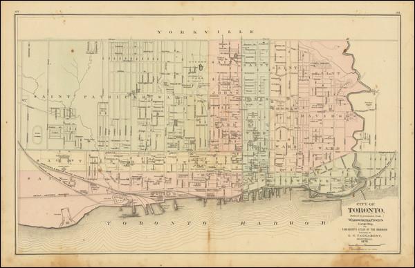 58-Eastern Canada Map By George Tackabury