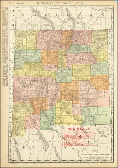 88-New Mexico Map By Rand McNally & Company