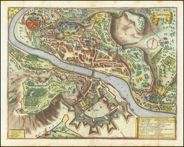 90-Austria Map By Matthaus Merian