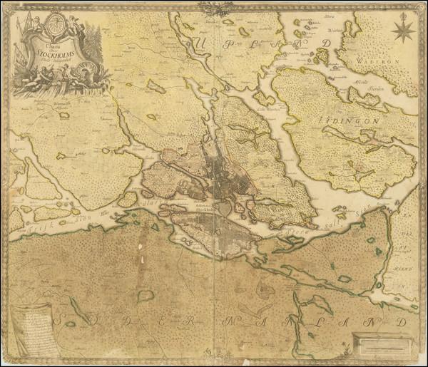 66-Sweden Map By Georg Biurman