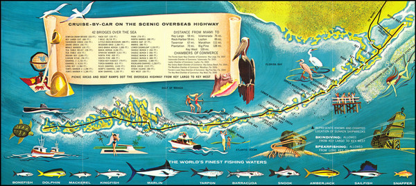 89-Florida Map By Monroe County Advertising Commission