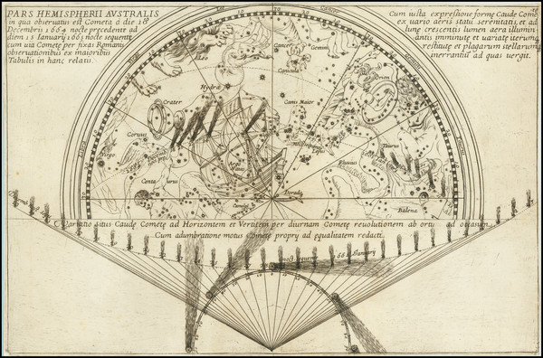 22-Celestial Maps Map By Giovanni Domenico Cassini