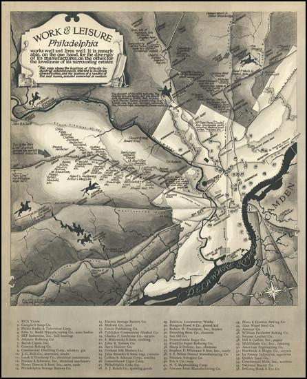 77-Pictorial Maps and Philadelphia Map By Ernest Hamlin Baker