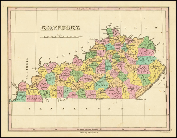 30-Kentucky Map By Anthony Finley