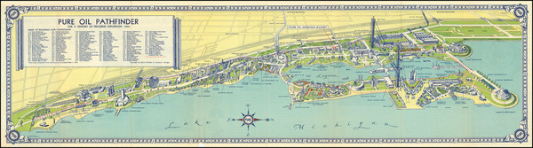 1-Pictorial Maps and Chicago Map By George Bodeen
