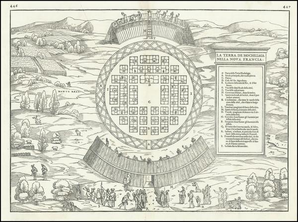 90-Canada Map By Giovanni Battista Ramusio