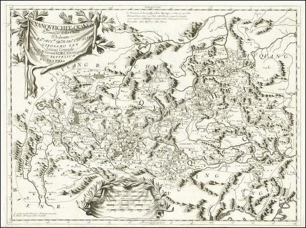 18-China Map By Vincenzo Maria Coronelli