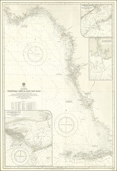 100-Florida Map By British Admiralty