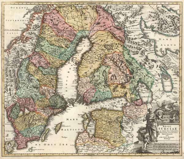 6-Europe, Baltic Countries and Scandinavia Map By Johann Baptist Homann