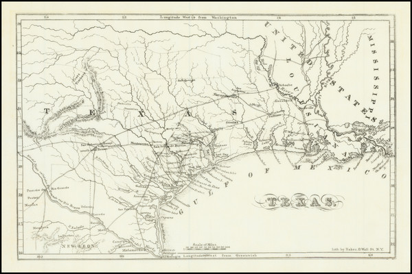 54-Texas Map By Chester Newell