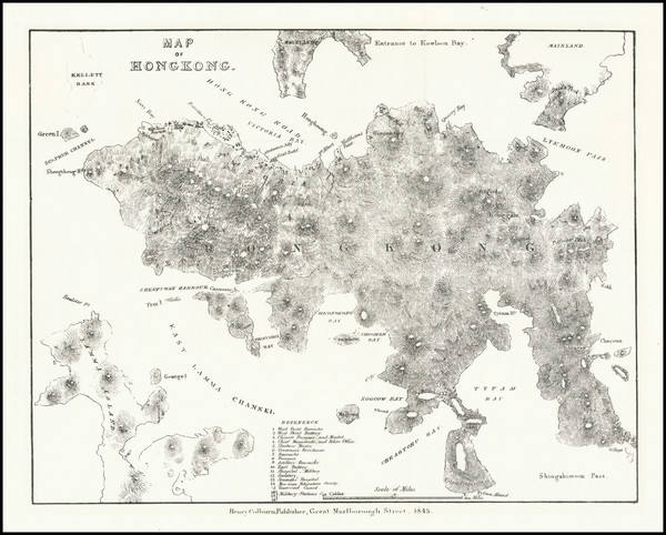 5-Hong Kong Map By Henry Colburn