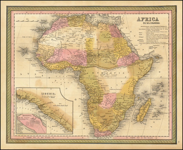 0-Africa Map By Henry Schenk Tanner