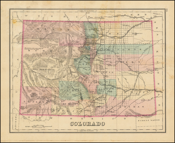 43-Colorado and Colorado Map By O.W. Gray