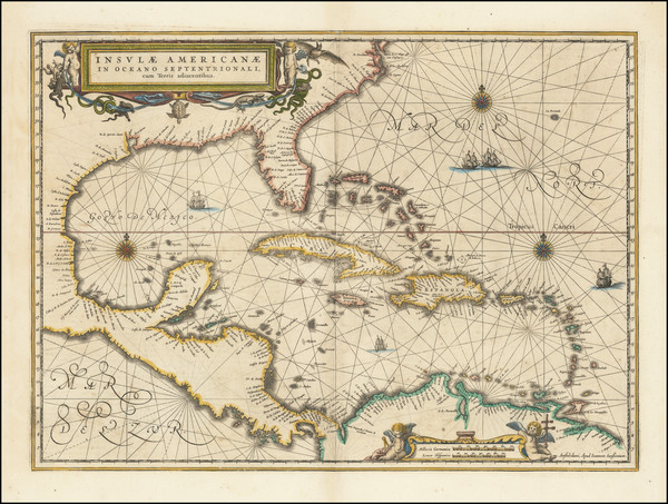 55-South, Southeast, Caribbean and Central America Map By Jan Jansson