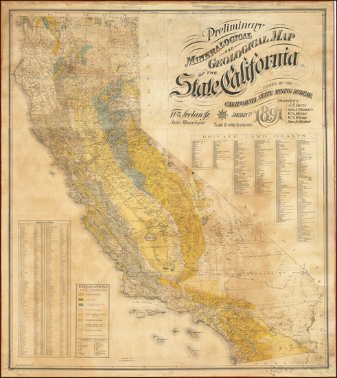 35-California Map By Julius C. Henkenius