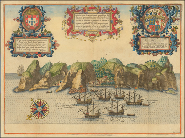 21-West Africa and African Islands, including Madagascar Map By Jan Huygen Van Linschoten