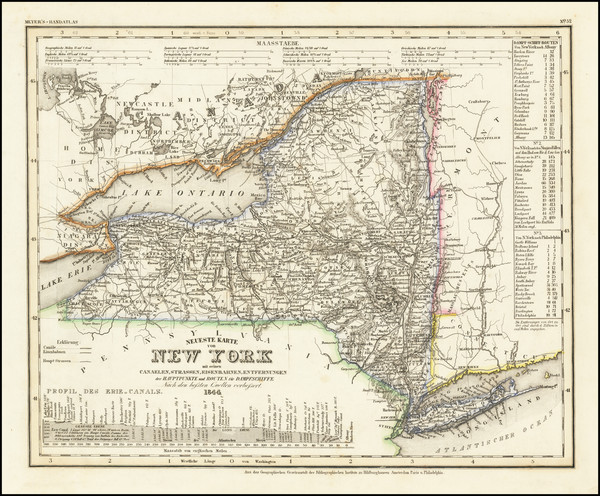 8-New York State Map By Joseph Meyer