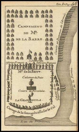 85-Eastern Canada Map By Baron de Lahontan