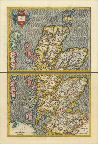18-Scotland Map By  Gerard Mercator
