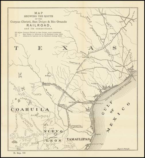 41-Texas Map By United States GPO