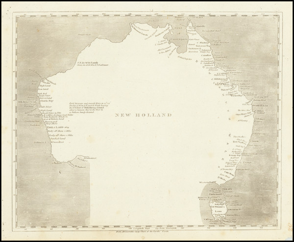 12-Australia Map By Aaron Arrowsmith  &  Samuel Lewis