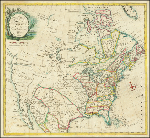43-United States and North America Map By Jonathan Carver