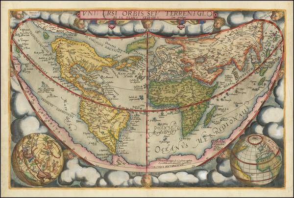 56-World Map By Gerard de Jode