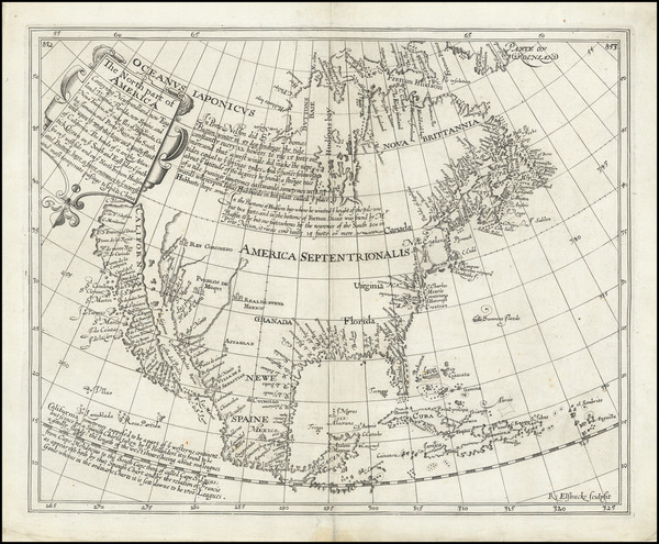 36-Southeast, North America and California as an Island Map By Henry Briggs