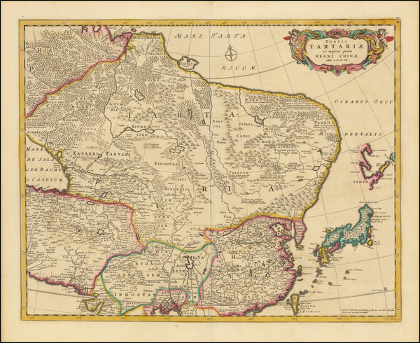 23-China, Japan, Central Asia & Caucasus and Russia in Asia Map By Frederick De Wit