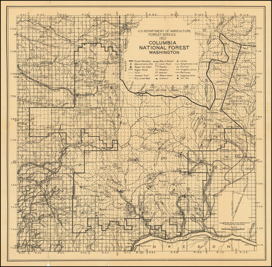 18-Washington Map By U.S. Department of Agriculture