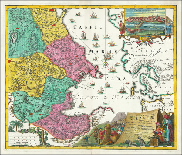 93-Central Asia & Caucasus and Persia Map By Johann Baptist Homann