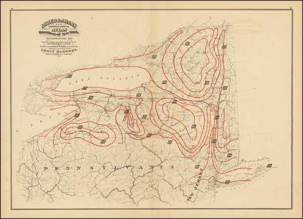 29-New York State Map By Asher & Adams